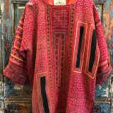Cross Stitch Tunic made from southeast asian textiles by Dancing Ladies in Santa Fe New Mexico