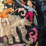 Antique Story Robe made from southwest Chinese textiles by Dancing Ladies in Santa Fe New Mexico