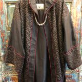 Metal Gimp Robe made from southwest Chinese textiles by Dancing Ladies in Santa Fe New Mexico