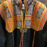 Jianhe Embroidered Robe made from southwest Chinese textiles by Dancing Ladies in Santa Fe New Mexico