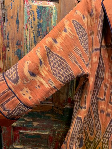Ikat-Southeast-Asia-Orange-Sleeve